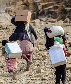 What's behind the global food crisis? Photo: Yemenis carrying food packages - the Yemeni people are victims of a US drone war that supports the Saudi Sunnis war on Yemen Shia. http://www.theguardian.com/global-development/2016/may/22/southern-africa-worst-global-food-crisis-25-years http://www.huffingtonpost.com/news/global-food-crisis/