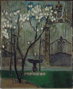 Kees Van Dongen (1877-1968), La grille de l'Elysée, vers 1912, huile sur toile, 100 x 81 cm, Paris, musée national d'Art m...