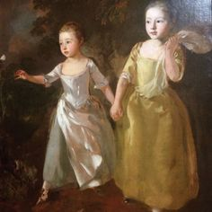 Gainsborough's portrait of his daughters (one of many), National Gallery, London