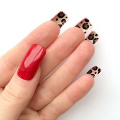 I wouldnt get mine this long, but i love the red on the outside and the leopard print under the nail