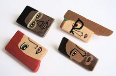 Kim Welling is an artist and illustrator based in Netherlands and these wooden brooches are fabulous!