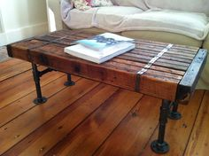 Reclaimed barnwood coffee table vintage/industrial by scottcassin via Etsy. Diy Coffee Table, Industrial Coffee Table, Barn Wood, Diy Furniture, Furniture, Wood Furniture, Modern Industrial Coffee Table, Coffee Table Design, Reclaimed Wood Coffee Table