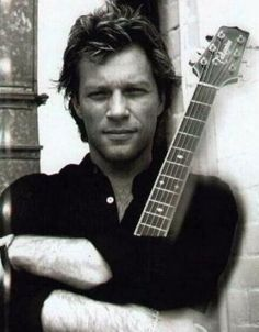 Jon Bon Jovi, my first rock crush. He's so beautiful.