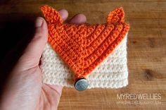 Fox Card Purse free crochet pattern - 10 Free Crochet Fox Patterns