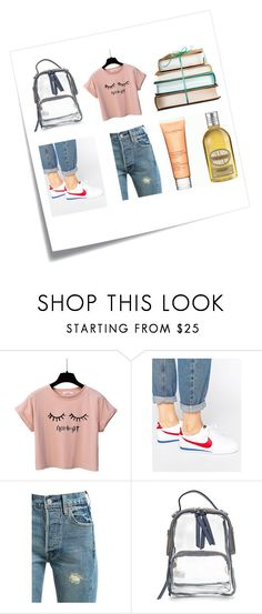 """#StreetStyle"" by leliuscris on Polyvore featuring moda, Post-It, NIKE y Levi's"