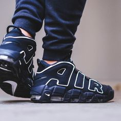 Nike Air More Uptempo '96 Obsidian / White Credit : BSTN