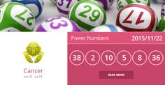 Cancer lucky numbers for 2015/11/22. Are they accurate? Pin=Yes | Favorite=No