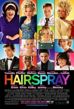 Hairspray: Soundtrack to the Motion Picture is the soundtrack album for the 2007 New Line Cinema musical film Hairspray. The film is an adaptation of the 2002 Broadway musical of the same name, itself adapted from John Waters's original 1988 film See Movie, Movie List, Movie Tv, Movies Showing, Movies And Tv Shows, Hairspray Movie, Comedia Musical, Broadway, Bon Film