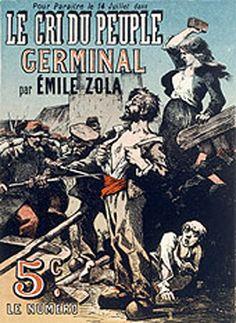 Illustration in Le Crie du Peuple magazine advertising publication of Germinal by Emile Zola Emile Zola, Le Cri, France Culture, Expositions, Illustrations, Antique Maps, New Books, Novels, Fine Art