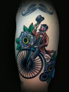 fancy bicycle tattoo - Design of Tattoos