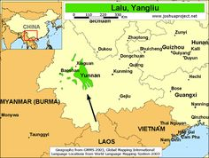 Pray / Lalu, Yangliu of China map