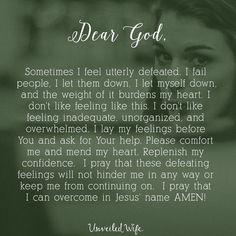 Prayer: Feeling Defeated