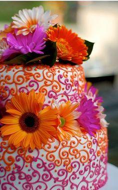 Awesomely fun wedding cake!?
