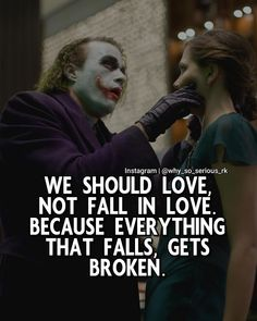 """Comment """"YES"""" If you agree ! Follow ( @why_so_serious_rk )  For more Motivational and Realistic Joker Quotes…"""