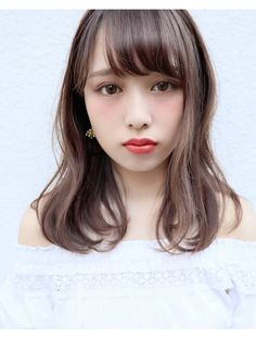ガレリアエレガンテ 名駅店(GALLARIA Elegante) GALLARIA ゆるカール×ラベンダーアッシュカラー Medium Long Hair, Medium Hair Styles, Short Hair Styles, Hair Arrange, Mid Length Hair, Hair Designs, Wavy Hair, Hair Looks, Short Hair Cuts