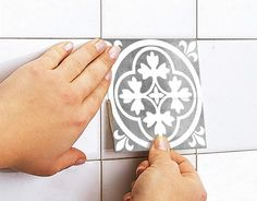 Moroccan Tiles Tile Stickers Tile Decals by HomeArtStickers Deco Stickers, Stair Stickers, Tile Counters, Kitchen Backsplash, Tile Decals, Wall Tiles, Tile Stickers Kitchen, Tile Edge, The Tile Shop