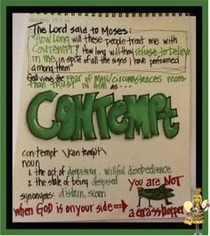...when God is on your side... you are NOT a grasshopper... and, HE views unbelief as contempt!