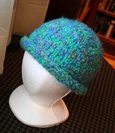 Free Knitting Pattern - Hats: Basic Rolled Brim Hat