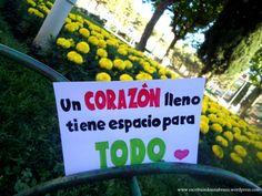 Un corazón lleno tiene espacio para todo #EscribiendoUnAbrazo #abrazoescrito #abrazo #Mataró