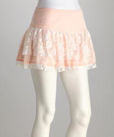 Peach Ruffle Skirt