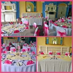 Fushia pink wedding