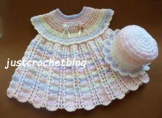 Crochet dress-sun hat uk, a free crochet pattern to fit approx a 3-6 month baby, made in uk double knitting random yarn on a 4.00mm crochet ................