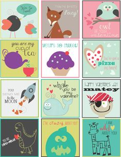 Free Printable Kids Adorable Valentines Day Labels By Lia