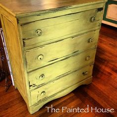 English Yellow dresser painted with Chalk PaintⓇ by  Annie Sloan #chalkpaint#morethanpaint