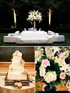 Sofa's at the duke mansion! Romantic North Carolina Wedding by Smitten Photography | Style Me Pretty