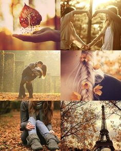 Really pretty fall-themed pictures :) p.s. - i really like the boots in the bottom left picture.