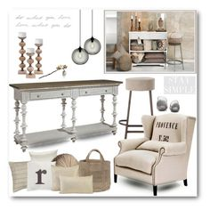 """""""Neutral Home Decor"""" by brendariley-1 ❤ liked on Polyvore featuring interior, interiors, interior design, home, home decor, interior decorating, Hübsch, John Lewis, Elli Popp and Arteriors"""