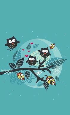 Image via We Heart It #autumn #owl #wallpaper #buho #otoño #fondo