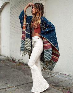 LOVE STITCH Bohemian Moroccan Woven Boho Blanket Poncho Sweater Cardigan XLARGE #LOVESTITCH #WrapSwingPONCHO