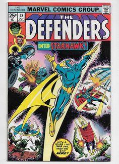 The Defenders #28 VF 8.0 Marvel 1975 Hulk Dr Strange Nighthawk Valkyrie Starhawk