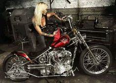 Indian Larry Motorcycles located in Brooklyn, NYC is the world's top custom motorcycle shop. Handmade one of a kind custom motorcycles. Lady Biker, Biker Girl, Biker Chick, Indian Larry, Motard Sexy, Custom Street Bikes, Custom Bikes, Custom Choppers, Custom Motorcycles