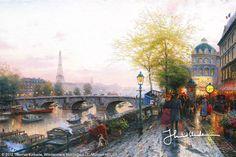 Paris, Eiffel Tower by Thomas Kinkade