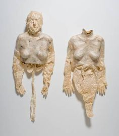 Kiki Smith , North America , b. 1954 Hard Soft Bodies , 1992 Paper and papier-mâché  Eerie, moving, textural