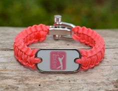 This is the officially licensed PGA TOUR® Light Duty Survival Bracelet. It is most popular as a bracelet or an anklet and is our thinnest, lightest option. $41.90   www.survivalstraps.com