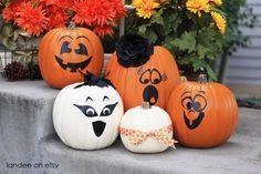 Halloween Vinyl Pumpkin Faces