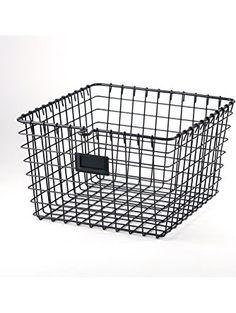 Spectrum Diversified Wire Storage Basket, Medium, Industrial Gray ❤ Spectrum Diversified Designs, Inc.