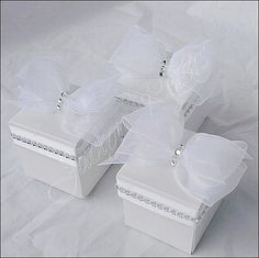 Jaclyn Peters Designs On Etsy White Wedding Favor Box With Silver Rhinestones, Bridal Shower, Sweet 16 Set Of 100 Bridal Boxes, Wedding Favor Boxes, Wedding Party Favors, Wedding Gifts, Wedding Decorations, Baby Shower Favors, Bridal Shower, Shower Gifts, Sweet Box