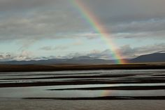Rainbow, river, glacier by www.AlastairHumphreys.com, via Flickr