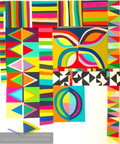 Loving these colors and shapes by  Michelle Wilkie....... Check out this 10 week evolution of improv  awesomeness!