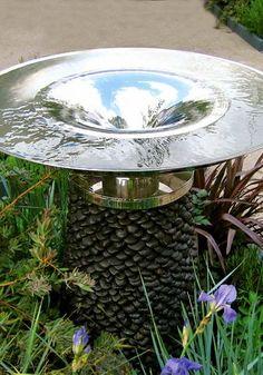 The spiralling Vortex: a modern water feature fountain - David Harber Backyard Water Fountains, Backyard Water Feature, Garden Fountains, Outdoor Fountains, Garden Pool, Water Garden, Garden Features, Water Features, Vortex Fountain