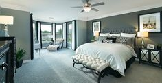 The master suite is located at the back of the house for privacy