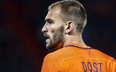 Scarica sfondi Bas Dost, calcio, calciatori, Nazionale olandese, in avanti