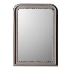 Miroir rectangulaire en bois paulownia biseauté 76x106cm Perla Taupe