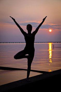 yoga silhouette yoga pose of standing  sittingsilhouette