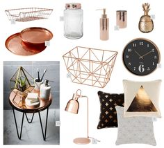 Rose gold / copper home decor