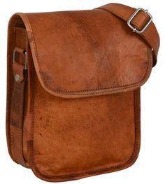 """Die schlichte Umhängetasche """"Tamara"""" hat die Maße von 17 x 22 x 7 cm (Außenmaße) - Lederumhängetasche - Handtasche - Gusti Leder - K66b"""